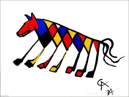 Литография Calder - Beastie