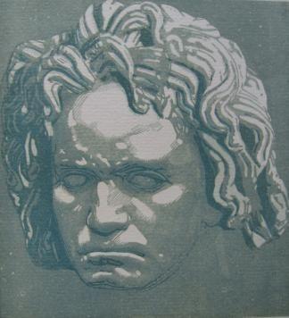 Гравюра На Дереве Beltrand - Beethoven