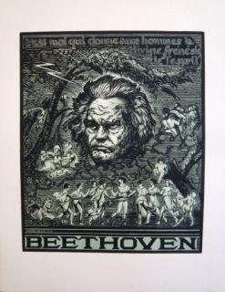 Гравюра На Дереве Belot  - Beethoven