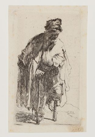 Гравюра Rembrandt - Beggar with a wooden Leg