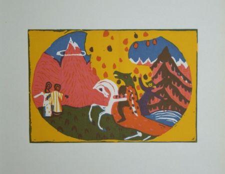 Гравюра На Дереве Kandinsky - Berge - Klänge, edition Pieper, 1913