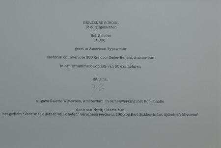 Сериграфия Scholte - Bergen, 13 dorpsgezichten, gafiekmap