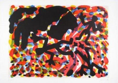 Офорт И Аквитанта Penck - Berlin Blatt VII