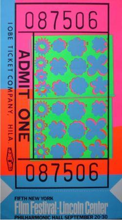 Сериграфия Warhol - Biglietto Lincoln Center (FS II.19)