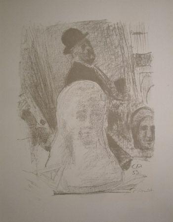 Литография Amiet - Bildnis des Künstlers mit Büste der Gattin