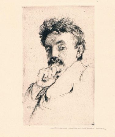 Гравюра Winkler - Bildnis Dr. Z (Portrait Of Dr. Z)
