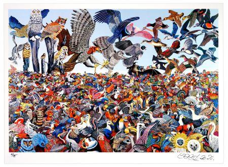 Цифровой Эстамп Erro - Birdlandscape