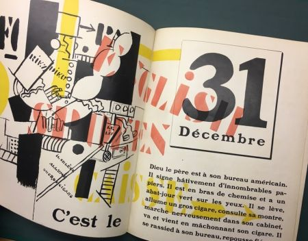 Иллюстрированная Книга Leger - Blaise Cendrars : La Fin Du Monde Filmée Par L'Ange N.-D. Roman. Compositions en Couleurs par Fernand Léger.