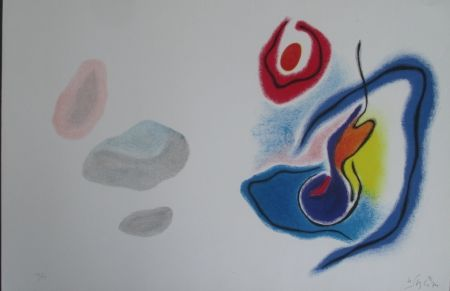 Литография Singier - Blason du corps blessé