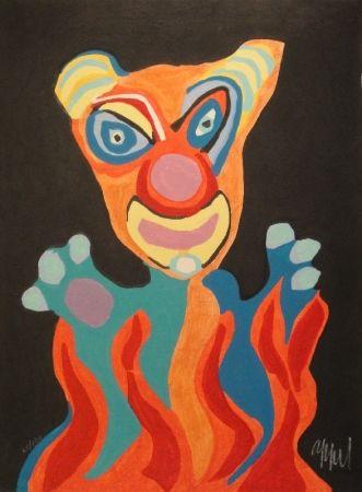Гравюра На Дереве Appel - Blatt der Folge Circus / Cirque, Soleil du Monde