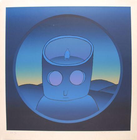 Сериграфия Folon - Blue Man - L'Homme Bleu