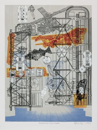 Сериграфия Paolozzi - Blueprints for a New Museum