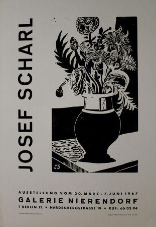 Гравюра На Дереве Scharl - Blumen in hoher Vase