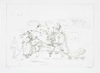 Литография Delarozière - Boeuf de manège