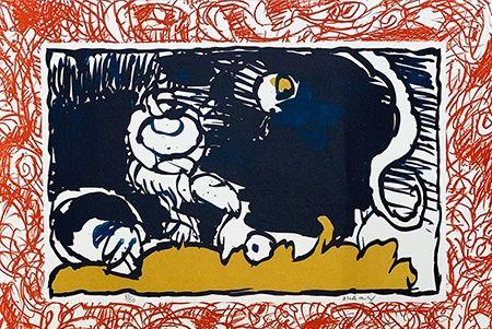 Литография Alechinsky - Bonnet blanc