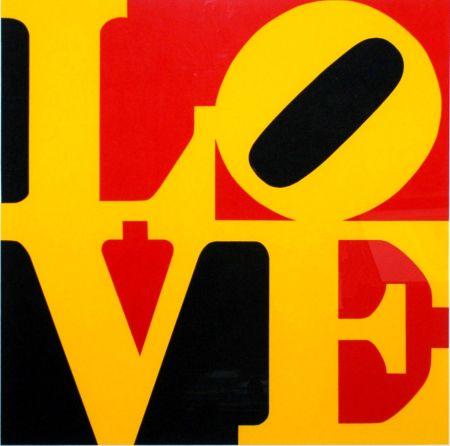 Сериграфия Indiana - Book of Love #9 (Black, Yellow, and Red - German Love)