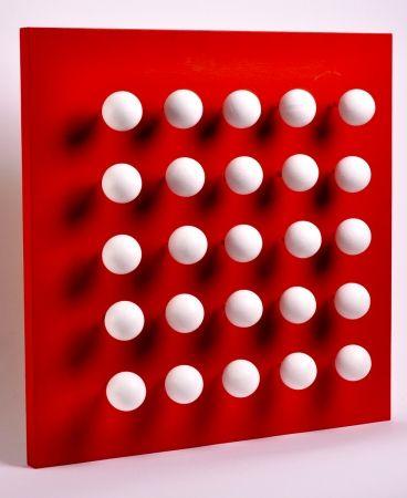 Многоэкземплярное Произведение Asis - Boules tactiles sur font rouge