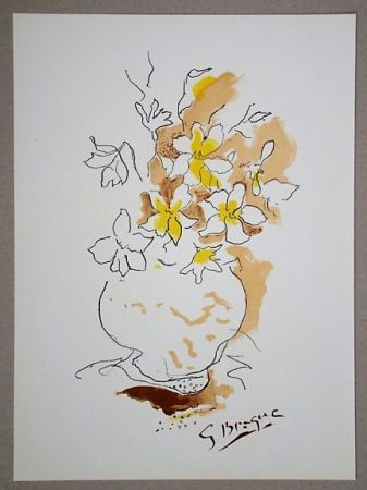 Литография Braque (After) - Bouquet