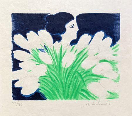 Литография Brasilier - Bouquet de Printemps