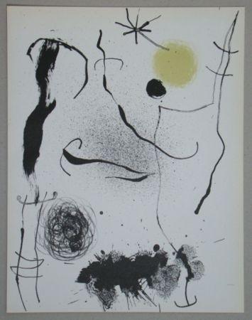 Литография Miró - Bouquet de rêves pour Leila