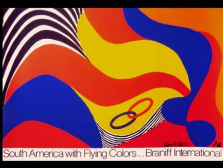 Сериграфия Calder - BRANIFF SOUTH AMERICA