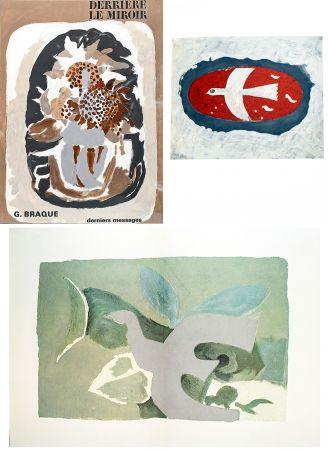 Иллюстрированная Книга Braque - BRAQUE, derniers messages. Derrière le Miroir n° 166 . Juin 1967.