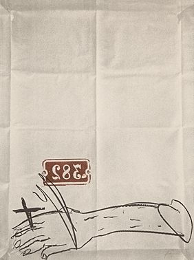 Литография Tapies - Bras Et Chiffres