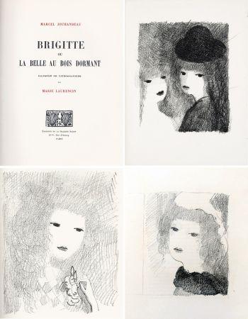 Иллюстрированная Книга Laurencin - BRIGITTE OU LA BELLE AU BOIS DORMANT (M. Jouhandeau. 1925)