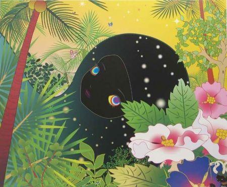 Литография Aoshima - Building Head - Palm Trees