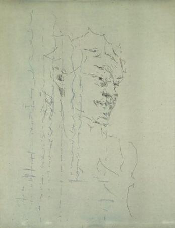 Гравюра Paul P - Bust de la Bacant III