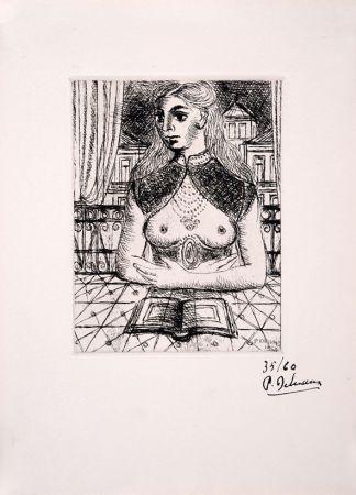 Офорт Delvaux - Buste de Femme III