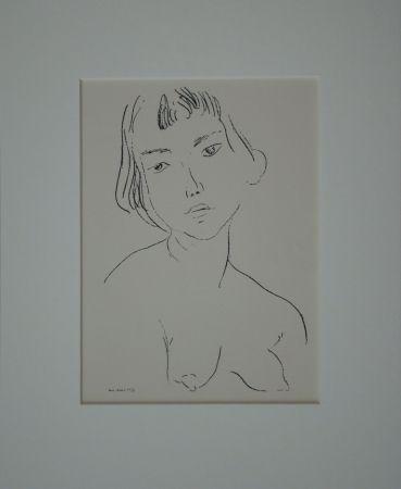 Литография Matisse - Buste d'une femme