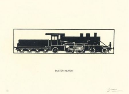 Литография Brossa - Buster Keaton
