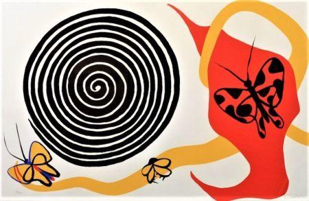 Литография Calder - Butterflies And Spiral