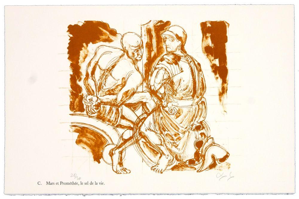 Литография Nørgaard - C. Mars et Prométhée.