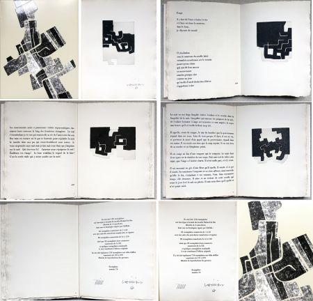 Иллюстрированная Книга Chillida -  C. Racine. LE SUJET EST LA CLAIRIÈRE DE SON CORPS. Poèmes. 4 eaux-fortes originales (1974)