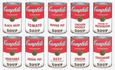 Сериграфия Warhol (After) - Campbell soup 10 silkscreens