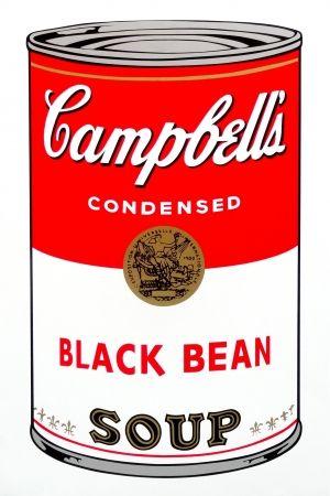 Сериграфия Warhol (After) - Campbell's Soup - Black Bean