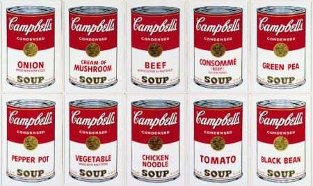 Сериграфия Warhol (After) - Campbell´s Soup Can Set of 10