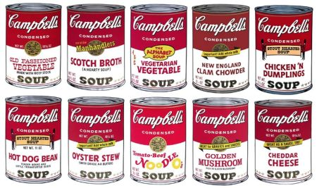 Сериграфия Warhol (After) - Campbell´s Soup Can Set of 10 Serie 2
