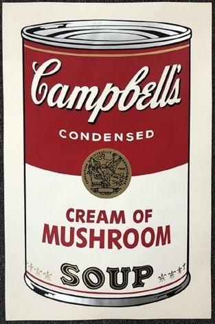 Многоэкземплярное Произведение Warhol - Campbell's soup I: Cream of Mushroom