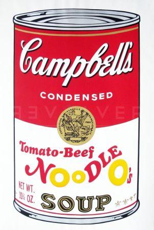 Сериграфия Warhol - Campbell'S Soup Ii: Tomato Beef Noodle O'S (Fs Ii.61)