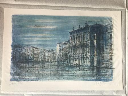 Литография Carzou - Canal Venice with Gondola
