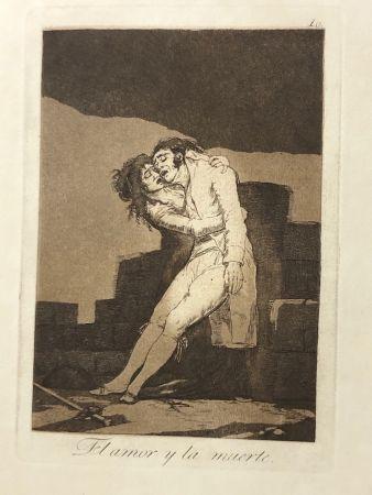 Офорт Goya - Capricho10. El amor y la muerte