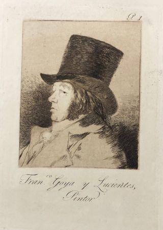 Офорт Goya - Capricho1. Francisco , Goya y Lucientes pintor
