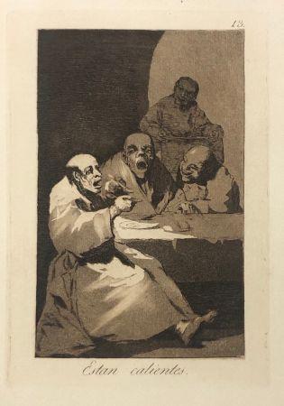 Офорт Goya - Capricho 13. Están calientes