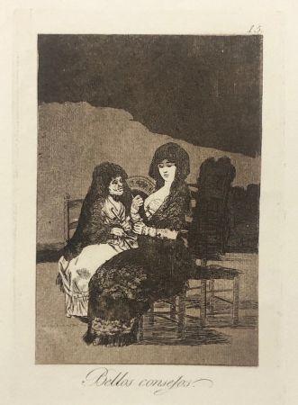 Офорт Goya - Capricho 15. Bellos consejos