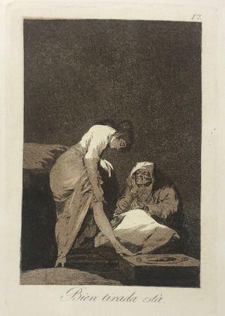 Офорт Goya - Capricho 17. Bien tirada está