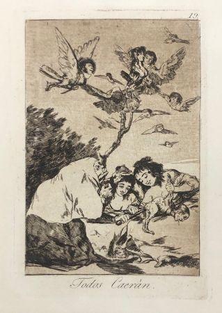 Офорт Goya - Capricho 19. Todos Caerán
