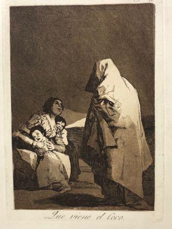 Офорт Goya - Capricho 3. Que viene el coco